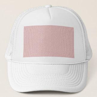 Soft Pastel Pink Knit Stockinette Stitch Pattern Trucker Hat