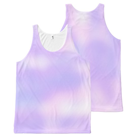 2a55750cb3b4c Soft Pastel Pink Purple White Tie Dye Look All-Over-Print Tank Top ...