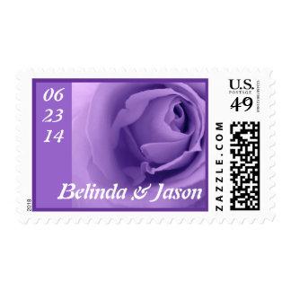Soft Pastel Purple Rose Premium Wedding Collection Postage Stamp