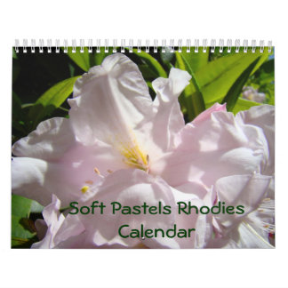 Soft Pastel Rhodies Calendar Rhododendrons Floral