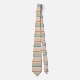Soft Pastel Stripe Pattern Neck Tie