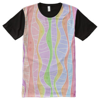 SOFT PASTEL STRIPES All-Over-Print T-Shirt