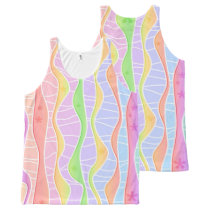 SOFT PASTEL STRIPES All-Over-Print TANK TOP