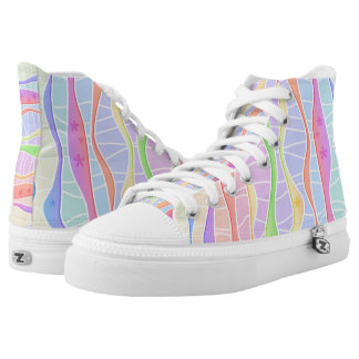 SOFT PASTEL STRIPES High-Top SNEAKERS