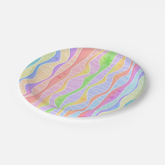 SOFT PASTEL STRIPES PAPER PLATE