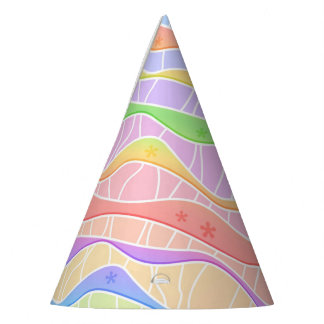 SOFT PASTEL STRIPES PARTY HAT