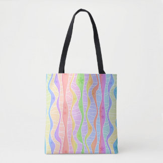 SOFT PASTEL STRIPES TOTE BAG