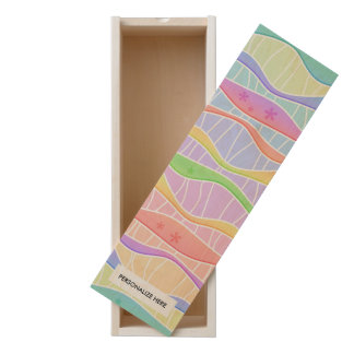 SOFT PASTEL STRIPES WOODEN KEEPSAKE BOX