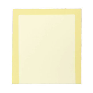 Soft pastel yellow accent decor ready to customize notepad