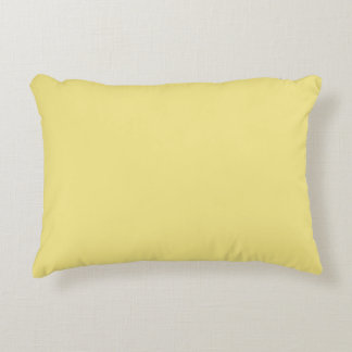 Soft pastel yellow background ready to customize accent pillow