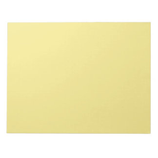 Soft pastel yellow decor ready to customize notepad