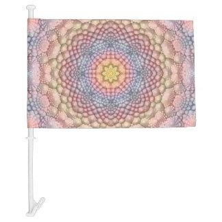 Soft Pastels Colorful Car Flag