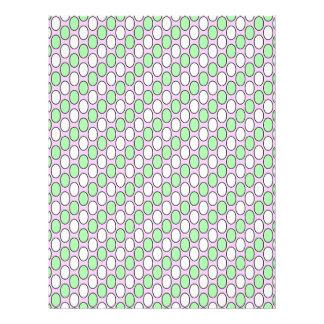 soft pattern green letterhead