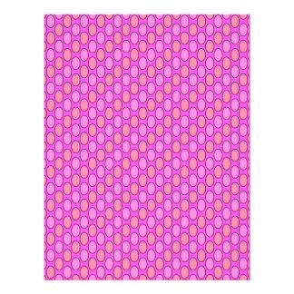 soft pattern pink letterhead design