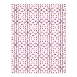 soft pattern, rose letterhead design