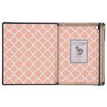 Soft Peach Quatrefoil Case For iPad