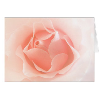 Soft Peach Rose card with poem