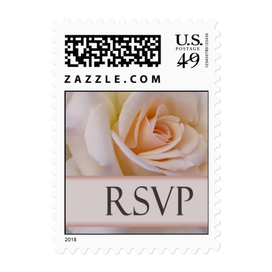 Soft peach rose for RSVP Postage