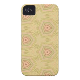 Soft Peach Yellow Modern Chic Fractal Pattern iPhone 4 Case-Mate Case