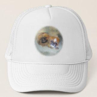 Soft Pekingese Duo Trucker Hat