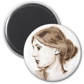 Soft Pencil Drawing of Virginia Woolf ... Magnet