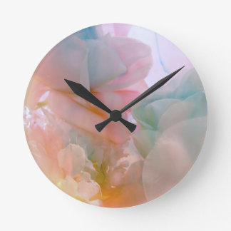 Soft Petals collection original photography by Lis Round Clock
