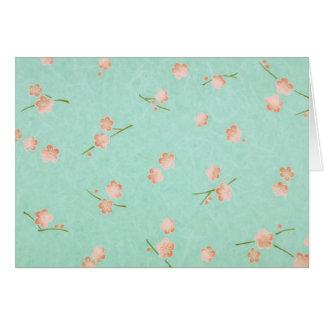 Soft Petals Peach & Aqua Greeting Cards