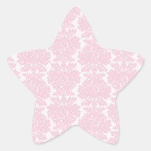 soft pink and white flourish damask pattern stickers