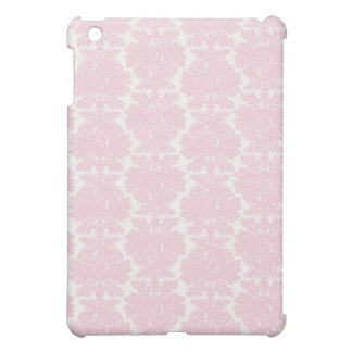 soft pink and white flourish damask pern iPad mini cases