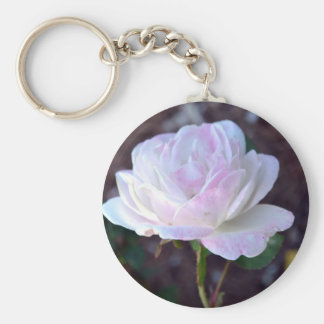 Soft Pink and White Rose-60 Keychain