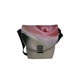Soft Pink and White Rose - Small Bag Courier Bag