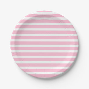 Soft Pink and White Stripes Paper Plates  sc 1 st  Zazzle & Light Pink Stripes Plates | Zazzle