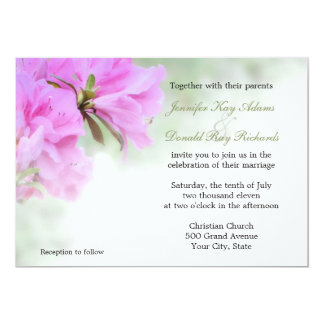 Soft Pink Azaleas Wedding or Party Invitations