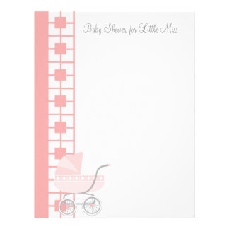 Soft Pink Baby Buggy Letterhead