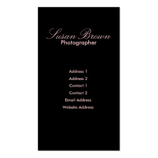 Soft Pink & Black Buisness Card Business Cards