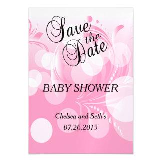 Soft Pink Bokeh Florid | Baby Girl Shower Magnetic Card