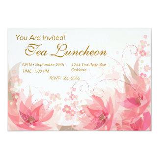 Soft Pink & Brass Flowers - Invite - 1