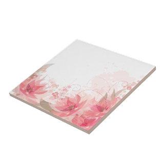 Soft Pink & Brass Flowers - Trivit - 1 Tile