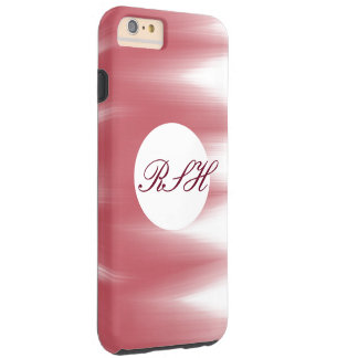 Soft pink brushed look with monogram tough iPhone 6 plus case