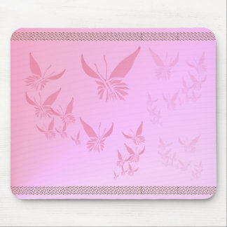Soft Pink Butterfly Mousepad