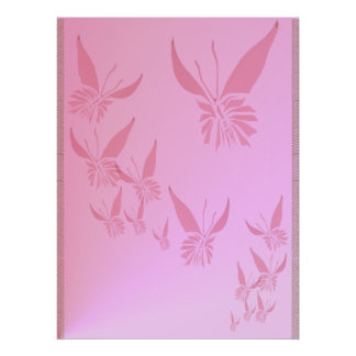 Soft Pink Butterfly Poster