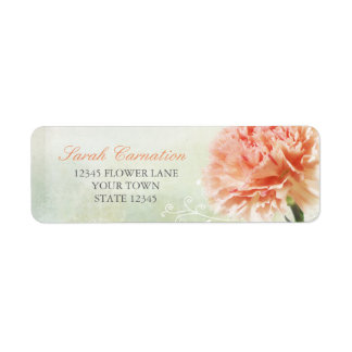 Soft Pink Carnation Return Address Labels