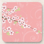 Soft Pink Cherry Blossom Beverage Coasters