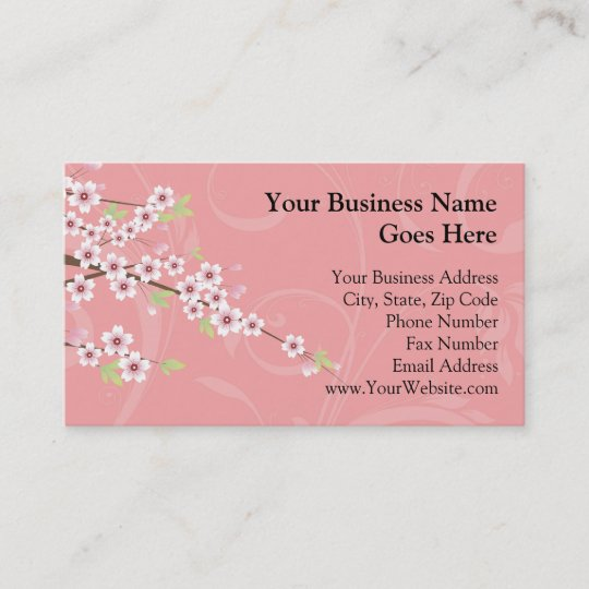 Soft pink cherry blossom business card zazzle soft pink cherry blossom business card colourmoves