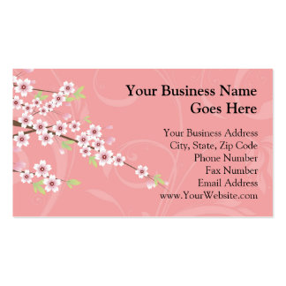Soft Pink Cherry Blossom Double-Sided Standard Business Cards (Pack Of 100)