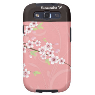 Soft Pink Cherry Blossom Galaxy S3 Cover