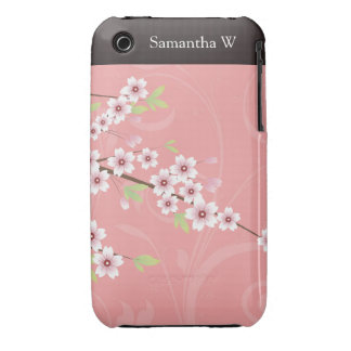 Soft Pink Cherry Blossom iPhone 3 Cases