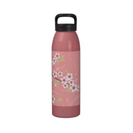 Soft Pink Cherry Blossom Drinking Bottle