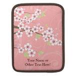 Soft Pink Cherry Blossom iPad Sleeves