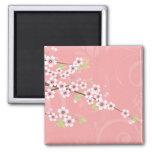 Soft Pink Cherry Blossom Magnet